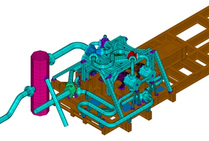 Reciprocating compressor package finite element analysis model ANSYS