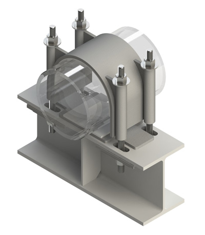 Anti-vibration thermal growth clamp