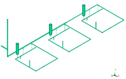 Acoustical Pulsation Model Representing a Piping Network