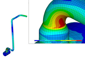 Dynamic stress analysis of ROV intervention line (subsea piping vibration)