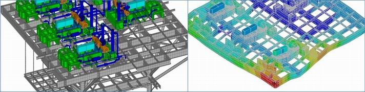 Structural Vibration and Dynamic Design Analysis for FPSOs, Platforms, Elevated Structures - FEA model